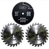 Pack of 3 Assorted Metal/wood 4-1/2' 4.5 inch Circular Saw Blade for Rockwell Rk3441k, Worx WX429L RW9281