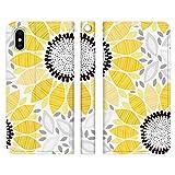 Ruuu ベルトなし iPhone7Plus iPhone8Plus iPhone6sPlus 兼用 手帳型 スマートフォン スマホ ケース カバー 向日葵 和テイスト-A 和柄 ひまわり 花柄