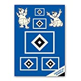 Hamburger SV HSV Aufkleber-Set Nachtleuchtend