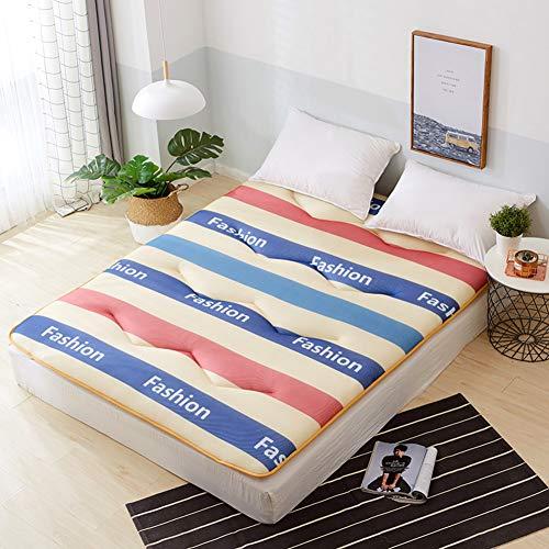 JanIST 4d Wabe Atmungsaktive Tatami Bodenmatratze, Sommer Cooler Schlaf Futon Matratzenauflagen,gesteppter Sleeping Mat Faltende Feuchtigkeit Wicking-gestreift 90x200cm(35x79inch)