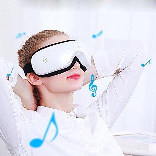 Musik Augen Massager Entlasten Sie Augenermüdung Verhindern Myopie Eye Protection Büro Heimgebrauch Druckmassage Wiederaufladbare Pearl White