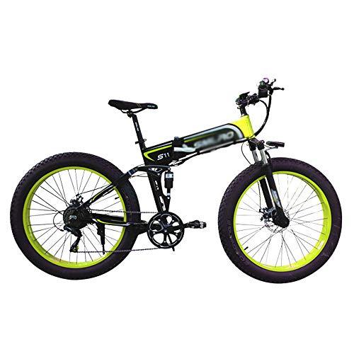 PHASFBJ Elektrofahrräder, Klapprad Fahrrad Elektro 350W 26 Zoll Faltbare Mountain Snow E-Bike Rennrad mit Hydraulischen Scheibenbremsen 7 Geschwindigkeit für Erwachsene,#2,36V10AH