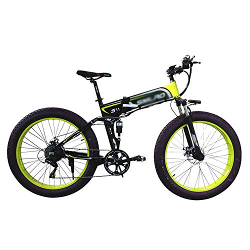 PHASFBJ Bicicleta Eléctrica Plegable, Bicis Electrica Fat Tire 26''4.0 Ebike Bicicleta de...