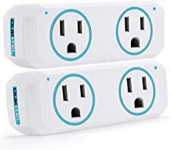 Smart Plug, OUKITEL Dual Mini Wifi Outlet Compatible with Alexa, Google Assistant & IFTTT, Voice APP Remote, No Hub Required, ETL & FCC Certified, Blue - 2 Pack
