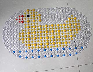 Transparent PVC Bath Mat Bathroom Carpet Shower Pad Toilet Soft Massage Pad Duck
