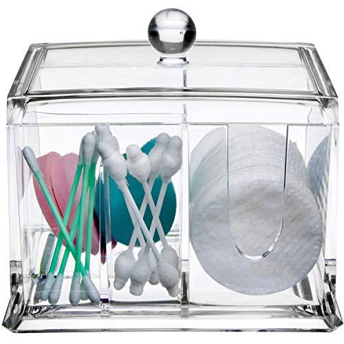 Qtips Cotton Balls Makeup Holder - Organisateur Acrylique