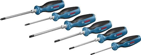 Bosch Professional 1600A016BF Set de 6 destornilladores, softgrip, en caja, Azul, 6 piezas