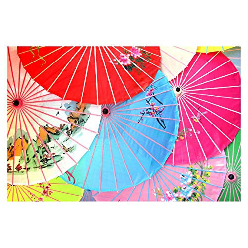 Carta da parati adesiva fotografica motivo - Gli Ombrelloni Cinesi 320 x 480 cm