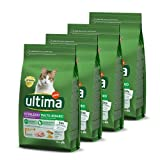 ultima cibo per gatti sterilizzati per prevenire problemi alle vie urinarie con pollo - confezione da 4 x 1,5 kg - totale: 6 kg
