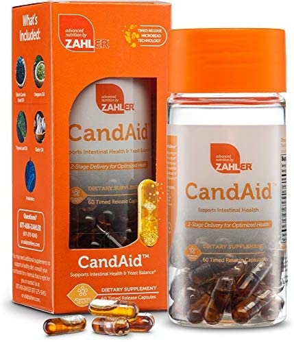 Zahler CandAid Digestive Health Supplement 2 Stage delivery for Optimized Health 60 Timed Release product image