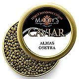 Marky's Imperial Osetra Sturgeon Black Caviar – 3.5 oz Malossol Russian Ossetra Black Roe – GUARANTEED OVERNIGHT