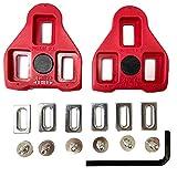 Generic Tacos para bicicleta unisex Juego de tacos para bicicleta compatibles con los pedales para Strade y Montañas (rojo)
