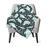 Manatee Baby Blanket for Infant Girls Boys Super Soft Thick Fleece Plush, Warm Fuffly Receiving Blanket for Winter Spring - fits for Stroller Crib Nap, Newborns Gift, 30 x 40 Inch