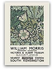 William Morris Impresión en lienzo The Albert Museum Exhibition Poster London Underground Art Painting Decoración de pared -50x70cm Sin marco