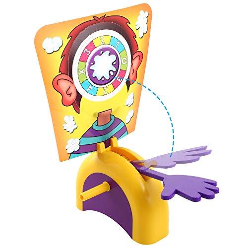 Buyi-World Cara Splash Hasbro, Tartas en la Cara (Juego de Mesa) Juego de acción para la Fiesta Familiar y la Fiesta Familiar (Cara única)