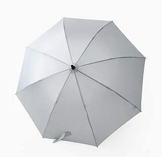 SUP-MANg Long Handle Solid Color Retro Clear Rain Dual-Purpose Reinforcement Umbrella (Color : Gray)