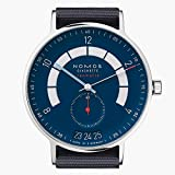 Nomos Glashuette Men's Autobahn 41mm Blue Cloth Band Automatic Watch 1302