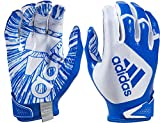 adidas Youth ScorchLight 5.0 Receiver Gloves (White/Royal, Large)