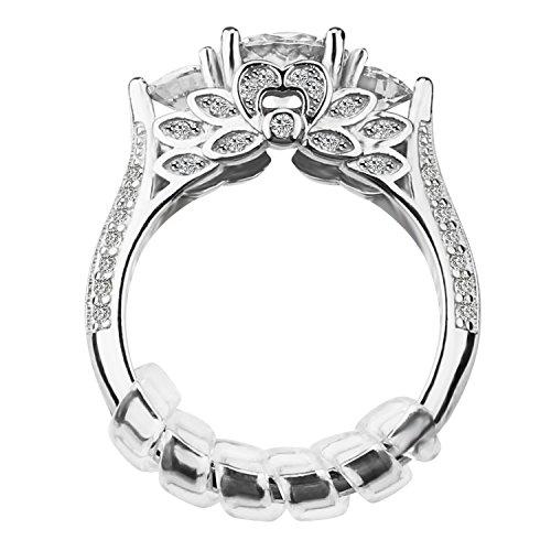 Ajusteur de taille d'anneau avec le tissu de polissage de bijoux pour les anneaux lâches, ensemble de 12, 3 tailles: 2mm / 3mm / 4mm