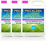 Pro-Kleen Artificial Grass Cleaner - Perfect for Homes with Dogs - Cleans, Disinfects, Deodorises & Fragrances - 3 x 5 Litre Super Concentrate: Makes 45 Litres