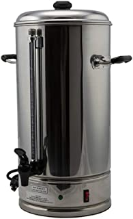 SYBO CP-15 Commercial Grade Stainless Steel Percolate Coffee Maker Hot Water Urn for Catering, 15-Liters, Metallic