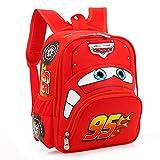 Cars Saetta McQueen borsa per bambini 3-6 anni Zaino di sicurezza per bambini Zaino per bambini delle scuole elementari Regalo di Natale per giocattoli-Rosso