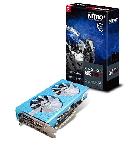 Sapphire Radeon Nitro+ RX 580 - Tarjetas gráficas PCI-E (8 GB, GDDR5, Dual HDMI, DVI-D, Dual DP con Placa Posterior (UEFI)