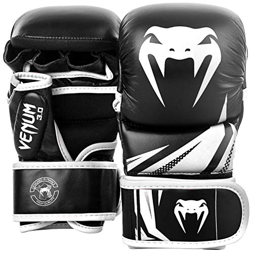Venum Challenger 3.0 MMA Sparring Handschuhe, Schwarz/Weiß, M
