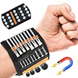 Magnetic Wristband for Holding Screws EEX Wrist Belt Tool with 20 Super Strong Magnets Unique Cool Gadgets Belts Gifts for Boyfriend Dad with 2 Pockets