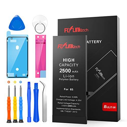 Batería para iPhone 6s 2500mAH con 46% más de Capacidad Que la batería Origina, FLYLINKTECH...