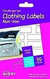 Avery España HNI01. Etiquetas adhesiva permanentes para ropa y calzado sin...