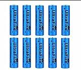 10pcs 18650 Batería Recargable 3.7 9800 MAH Azul Litio BateríA Recargable De Iones De Litio 3.7v Pilas Recargables 18650 Alto Rendimiento BotóN De La BateríA Superior Para Linterna 18650,18X65mm