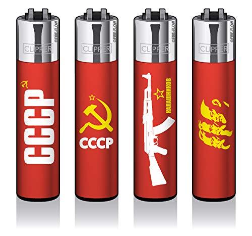 Clipper® Feuerzeuge - CCCP - 4er Set