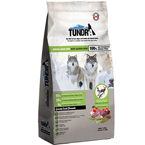 Tundra Trockenfutter Hundefutter Hirsch, Ente & Lachs - getreidefrei (11,34 kg)