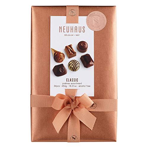Neuhaus Belgian Chocolate Classic Pralines Assortment Ballotin - 1 lb , Premium Chocolate Gift Ballotin Box , Gourmet Milk, Dark, White Chocolate Praline Assortment, 34 count