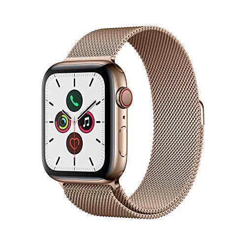 Apple Watch Series 5(GPS + Cellularモデル)- 44mmゴールドステンレススチールケースとゴールドミラネーゼループ