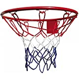 Best - Red de Baloncesto, para aro de 45 cm, Color Azul, Blanco y Rojo