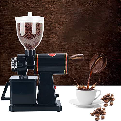 YaeMarine Professional Electric Coffee Grinder Coffee Bean Powder Grinding Machine Coffee Grinder Mill Grinder Thickness Adjustable (Black)