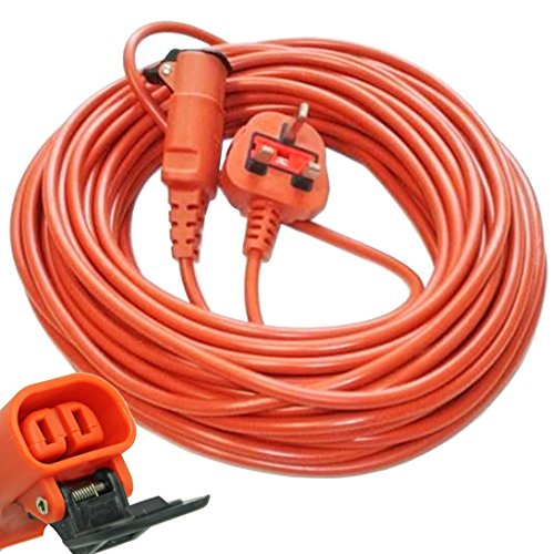 SPARES2GO 20 Metre Cable & Lead Plug for Flymo Lawnmower or Hedge Trimmer (20m)