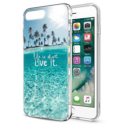 Pnakqil Cover per iPhone SE 2020 iPhone 7/8, Custodia Silicone Morbido TPU Trasparente Case Ultrasottile Anti-caduta Anti-Graffio Antiurto Anti Scivolo Cover per iPhone SE 2020/7/8, Paesaggio