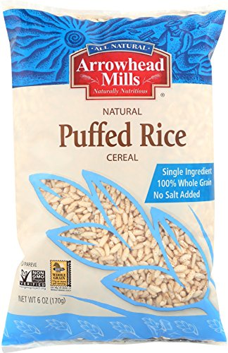 Arrowhead Mills Cereal Puffed Rice 6 oz Bag Pack of 12