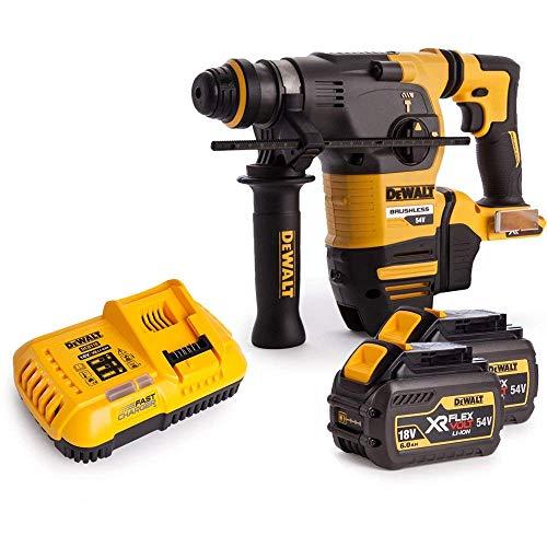 Dewalt DCH333N 54V XR Brushless Flexvolt 3 Mode SDS+ Hammer Drill with 2 x 6Ah Batteries & Charger