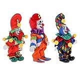 Tubayia 3 Unidades Halloween Payaso muñeca minimuñeca de Porcelana con Disfraz para Halloween decoración Regalo