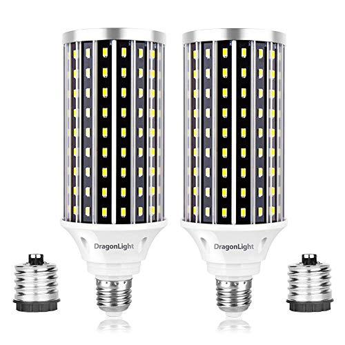 DragonLight Lampadina LED super luminosa da 50 W (sostituisce 350 Watt) – Lampadina LED Edison E27/E40– 6500 K bianco freddo 5000 lumen per illuminazione commerciale,garage,officina,cortile (2 pezzi)