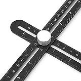 Hyuduo Multi Angle Measuring Ruler Herramienta de Plantilla de Regla de Angularizador Universal/Herramienta de diseño Medición para manitas, constructores, Artesanos