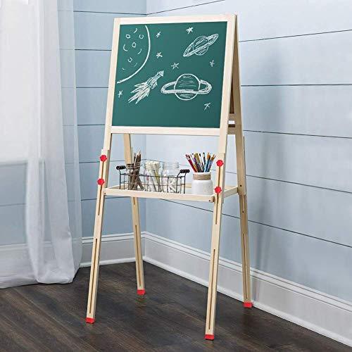 Cocoarm Spieltafel Höhenverstellbar Standkindertafel Magnettafel Kindertafel Standtafel Maltafel Schreibtafel für Kinder Holz