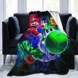 Taodfng Su-per Mar-io Yo-shi Blanket Flannel Summer Air Conditioner Super Soft Plush Fleece Throw Blanket Home Bed Sofa All Season 80'' x60