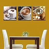 ZDFDC Wandkunst Leinwand Malerei 3 Stück Kaffee Tee Poster