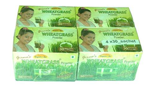 Girme's Wheatgrass Organic Wheat Grass Powder - 3Gx30 Sachet X Pack Of 4 (30Sx4)