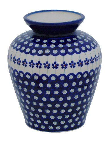 Original Bunzlauer Keramik Vase/Blumenvase, Höhe 19,7cm im Dekor 166a
